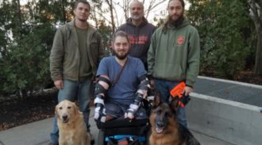 Clear Path trains service dog of Veteran recovering from  double arm transplant
